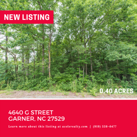 Vacant Lot in Garner! 4640 G Street, Garner: 0.40 acres