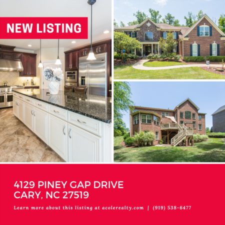 *NEW LISTING* Exquisite All Brick Home on a wooded cul-de-sac lot in Green Level Crossing!