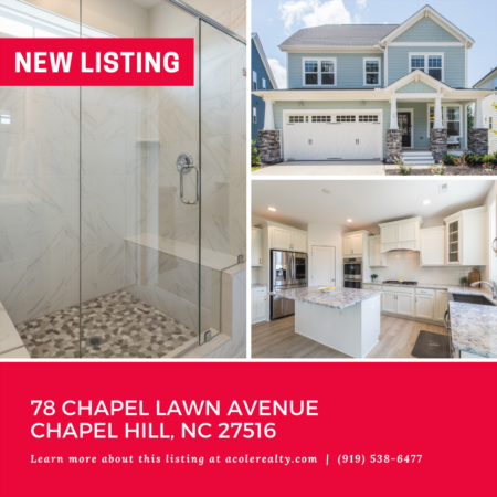 *NEW LISTING* Exquisite home located in Chapel Hill. This home has it all!