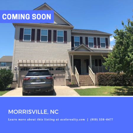 *COMING SOON* Amazing Opportunity in Morrisville!