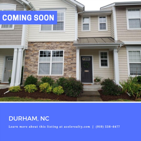 *COMING SOON* Townhome in Durham, NC!