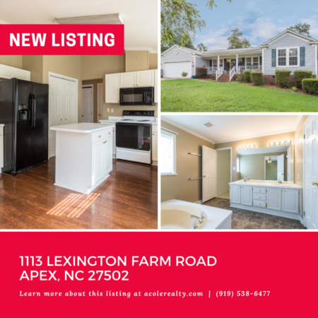 *NEW LISTING* Ranch style home in the community of Lexington Farms