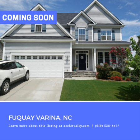 *COMING SOON* Beautiful home in Fuquay Varina!