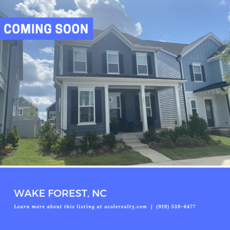 *COMING SOON* Exquisite 'Like New' Home, located in Wake Forest