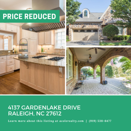 15k Price Reduction for 4137 Gardenlake Drive!!!