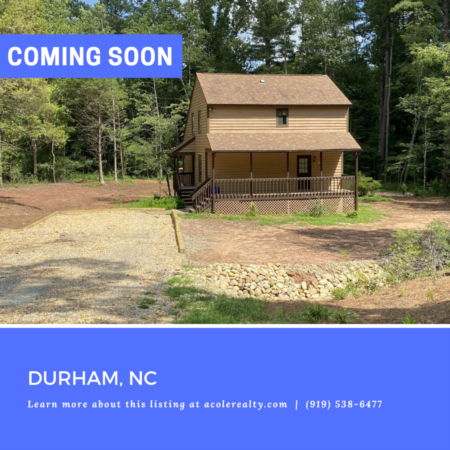 *COMING SOON* Cedar siding home sitting on open, secluded, wooded lot.