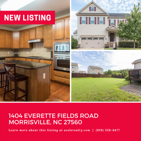 *NEW LISTING* Amazing Opportunity in Morrisville!