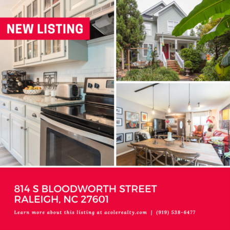 *NEW LISTING* Beautiful home just steps away from all you love about Downtown Raleigh.