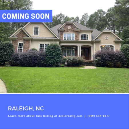 *COMING SOON* Home in Raleigh, NC! Don't miss it!