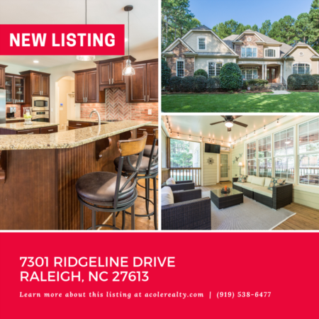 *NEW LISTING* Spectacular Home on 1 Acre Lot in a great Raleigh location!