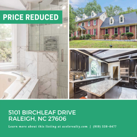 *PRICE REDUCTION* A $10,000 price adjustment has just been made on 5101 Birchleaf Drive, Raleigh!