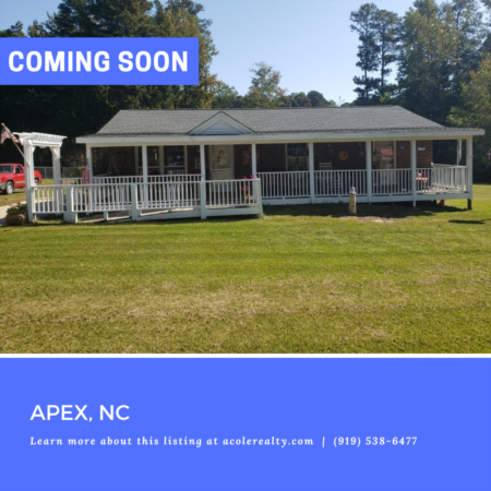 *COMING SOON* Home in Apex, NC!