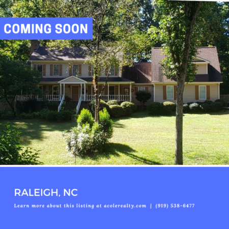 *COMING SOON* Great Raleigh location with no city taxes and close proximity to restaurants and shopping.
