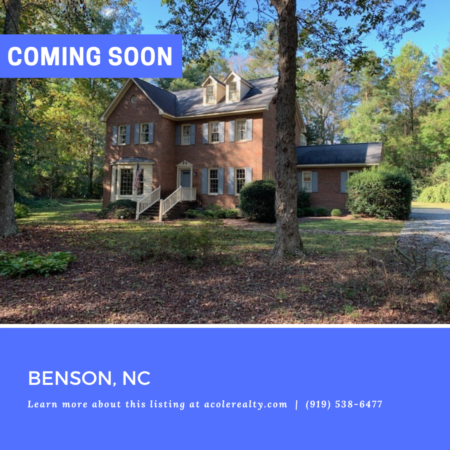 *COMING SOON* Be the first to know! For more details on this Benson, NC listing