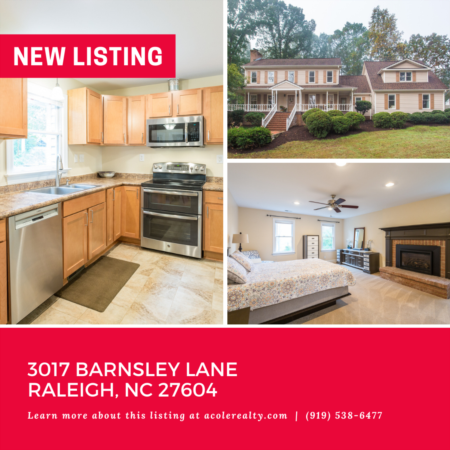 *NEW LISTING* Great Raleigh location with no city taxes and close proximity to restaurants and shopping.