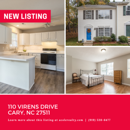 *NEW LISTING* End Unit Townhome in a great Cary location!