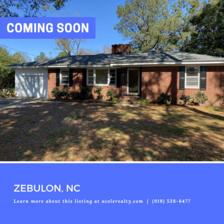 *COMING SOON* Be the first to know! For more details on this Zebulon, NC listing before it hits the market!