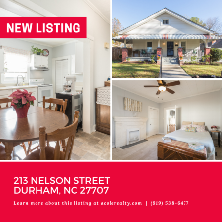 *NEW LISTING* Charming Bungalow in the heart of Durham!