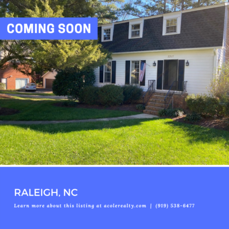 *COMING SOON* Prime Raleigh location in the serene neighborhood of Meredith Woods!