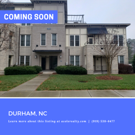 *COMING SOON* Spectacular location in the heart of Research Triangle minutes away from Raleigh, Cary, Morrisville, UNC, Duke, amazing restaurants, shopping, and biking trails.