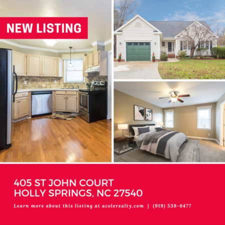 *NEW LISTING* Spectacular Ranch Home in a convenient Holly Springs location!