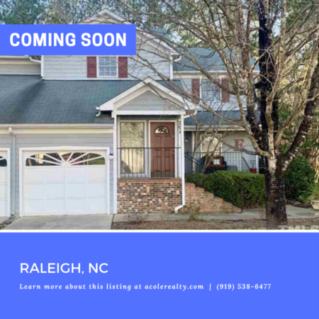 *COMING SOON* 2nd Floor End Unit Condo!  Prime location to 540, RDU, shopping, and schools.