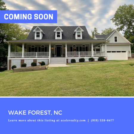 *COMING SOON* Private retreat tucked off the road in a convenient location close to 540 & Falls of Neuse Rd.