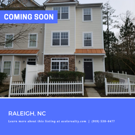 *COMING SOON* End Unit Townhome in desirable Wakefield Plantation.