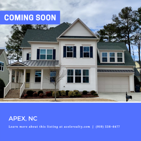 *COMING SOON* Super energy efficient open concept home in Apex, NC!