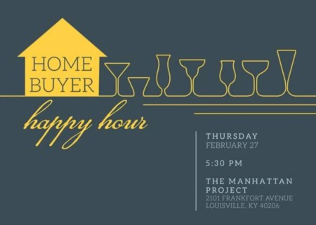 Home Buyer Happy Hour this Thursday, February 27