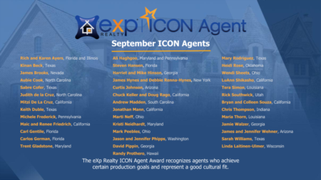 Rich & Karen Ayers receive ICON Agent Award at eXp Realty