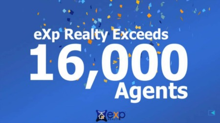 eXp Realty Exceeds 16,000 Agents