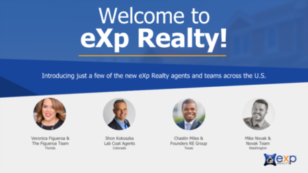 Industry Leaders and Award Winners Join eXp Realty