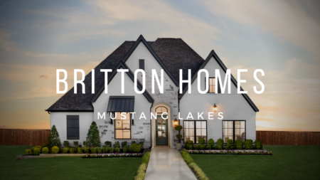 Britton Homes Model at Mustang Lakes in Celina Tx