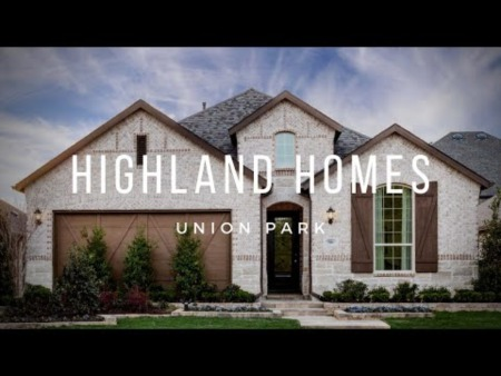 New Homes at Union Park - Little Elm Tx - Highland Homes 50s Model