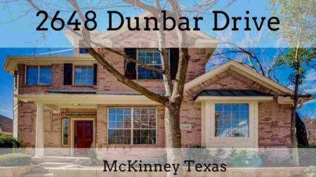 SOLD - 2648 Dunbar Drive McKinney, Tx
