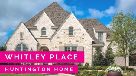 The New Huntington Homes Model in Whitley Place