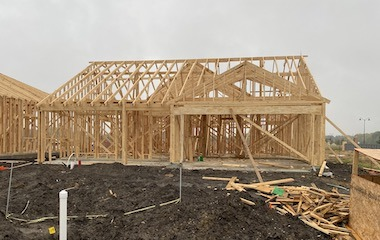 Building a New Construction Home in Little Elm, Tx - Framing the Home