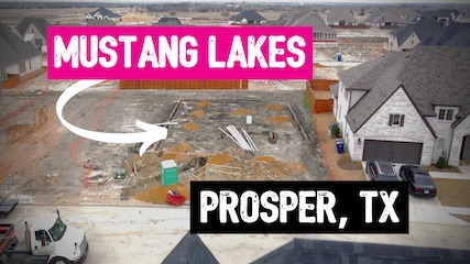 Building a Britton Home at Mustang Lakes in Prosper Tx | Trenching and Form Boards