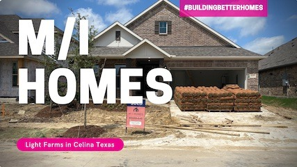 Building a MI Home at Light Farms in Celina Tx | The Landscaping is in