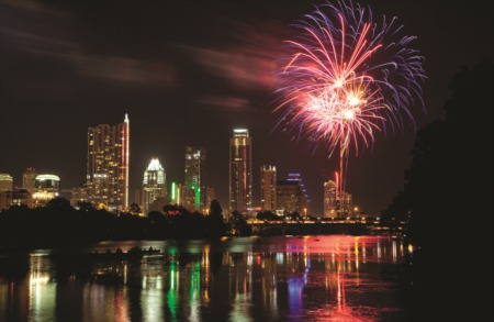 4th of July fireworks in Austin