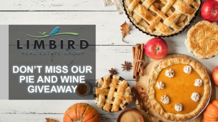 Join Us for Our Annual Thanksgiving Pie or Wine Giveaway