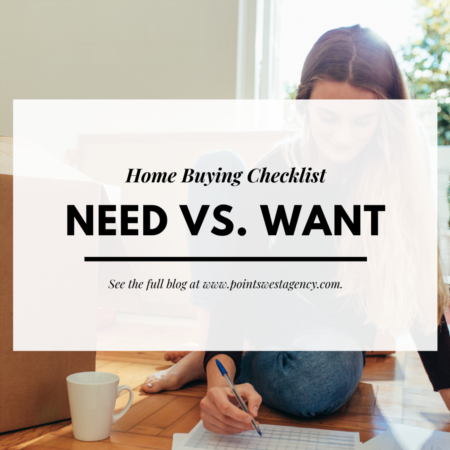 Home Buying Checklist: Need vs. Want