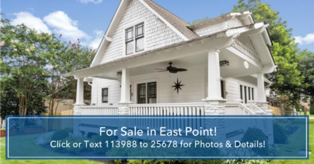 Live TALL in East Point in this two story bungalow style home!