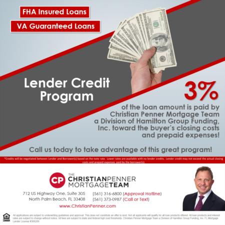 Lender Credit Program: FHA Insured Loan – VA Guaranteed Loans