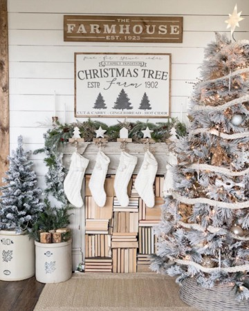 25 Festive Farmhouse Christmas Decorations for the Home