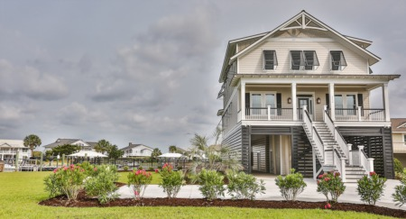 Creekfront Lowcountry-style Raised Beach House
