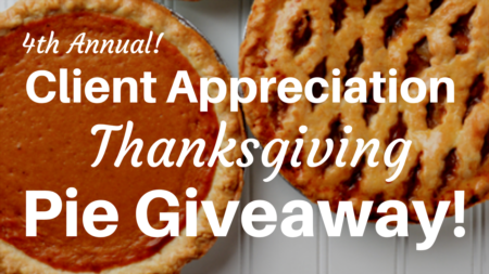 2018 Thanksgiving Pie Giveaway