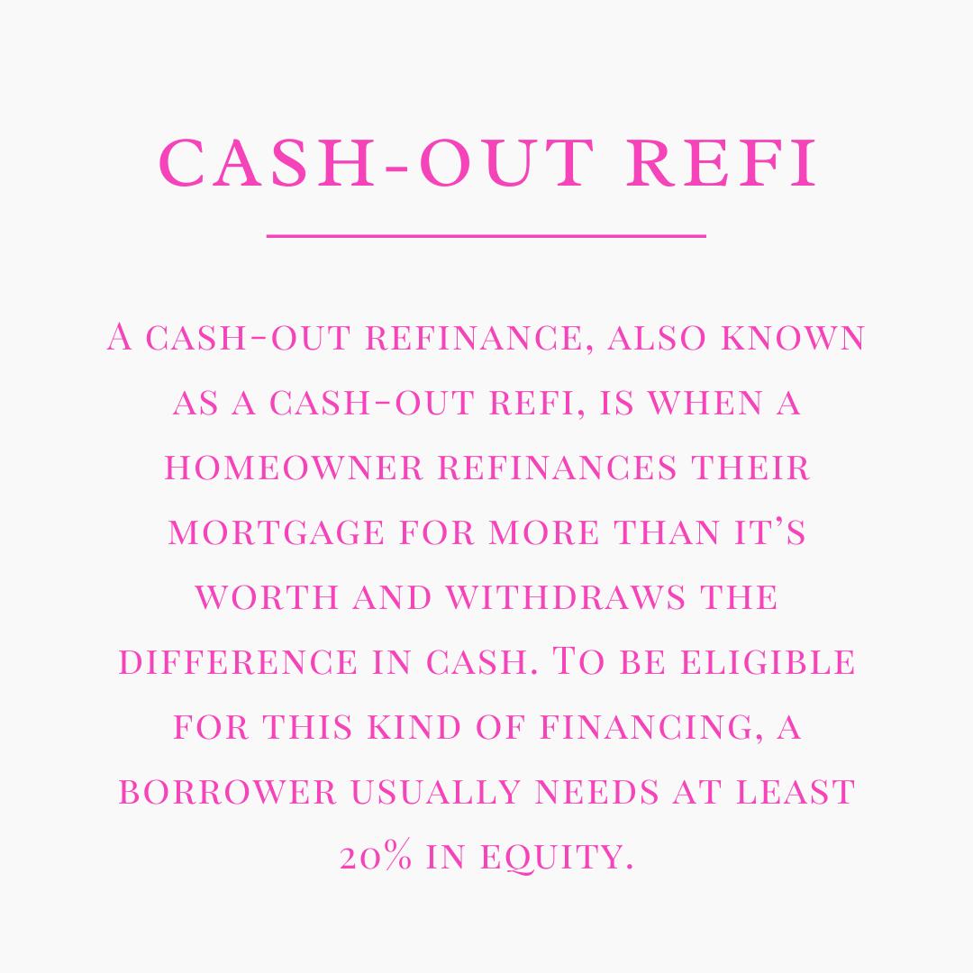 Cash Out Refi