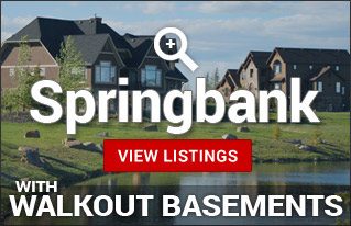 Walkout Homes & acreages for sale in Springbank